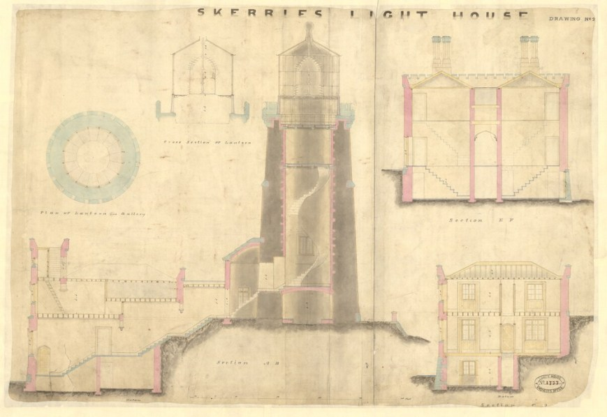 Skerries Lighthouse section copyright Trinity House